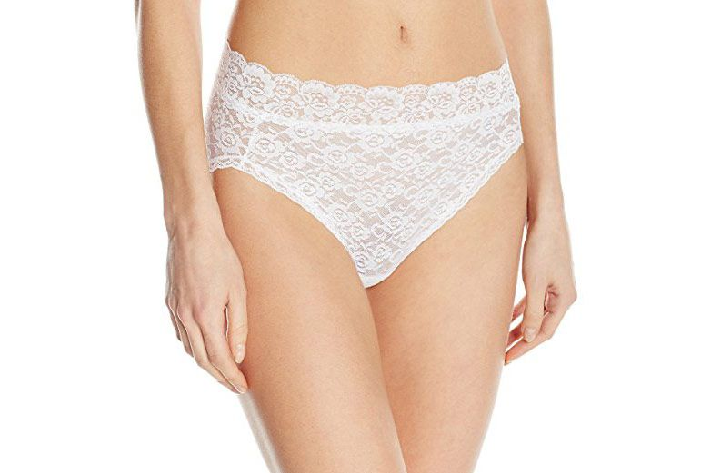 Vanity Fair Women's Flattering Lace Hi Cut Panty