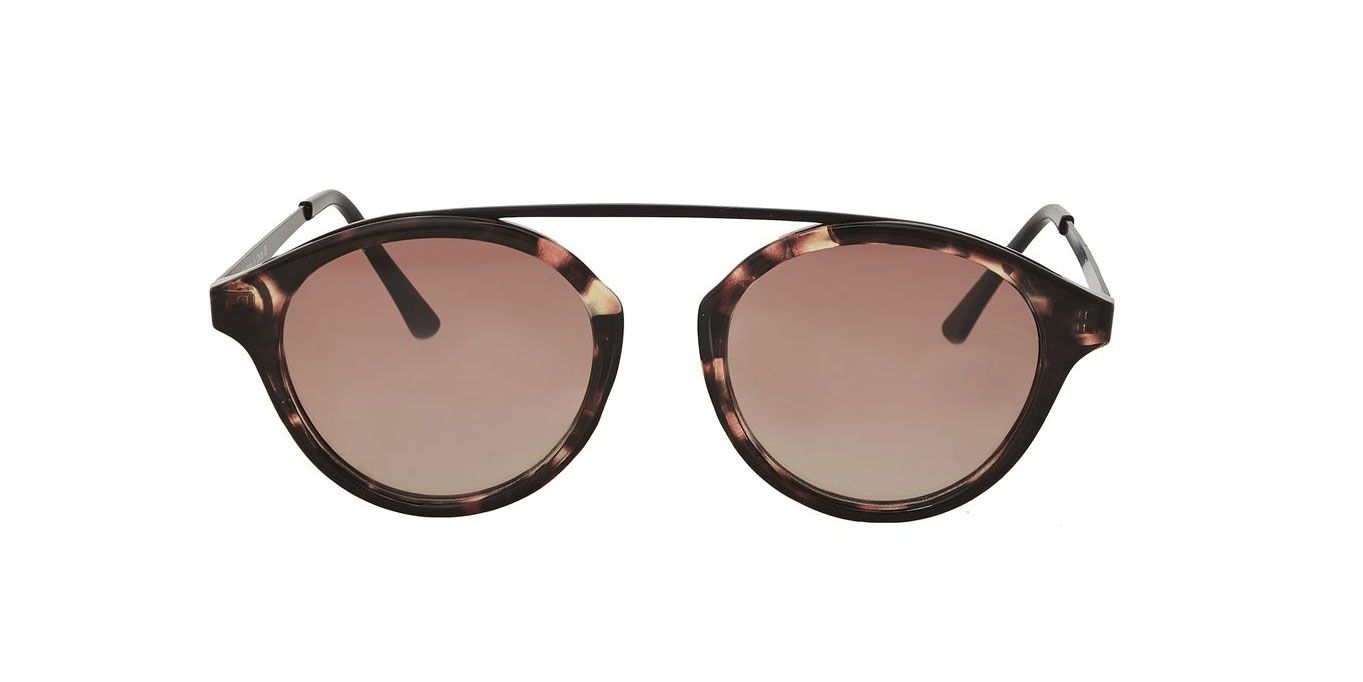 Bridgeless Tortoiseshell Sunglasses