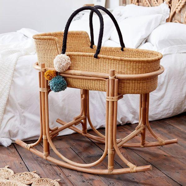 The Rattan Company Martha Moses Basket Stand