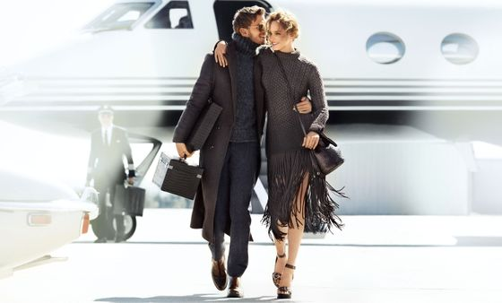 <b>Models:</b> Karmen Pedaru and Benjamin Eidem <b>Photographer: </b>Mario Testino