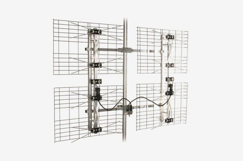 High Gain Bowtie Indoor/Outdoor HDTV Antenna — 60 Mile Range
