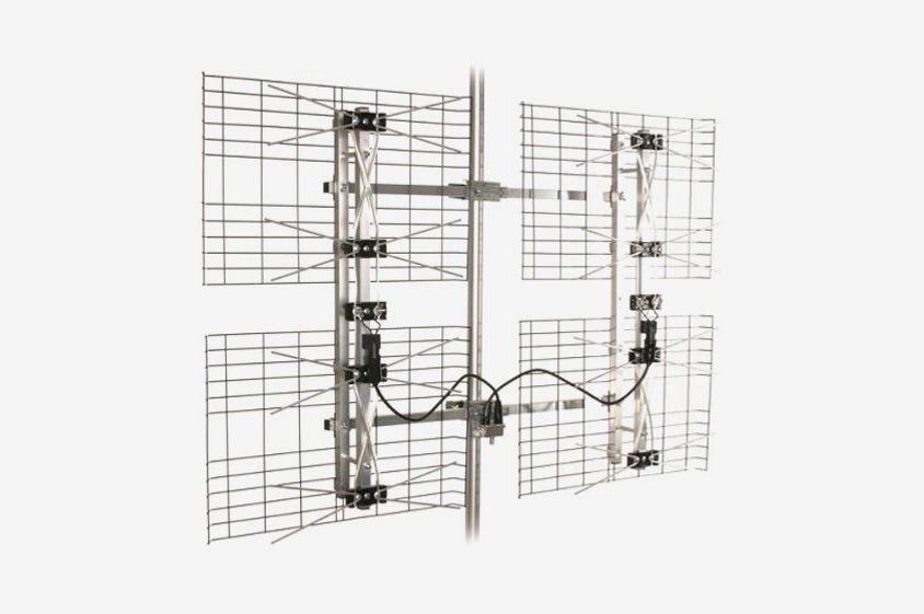 High Gain Bowtie Indoor/Outdoor HDTV Antenna — 60 Mile Range