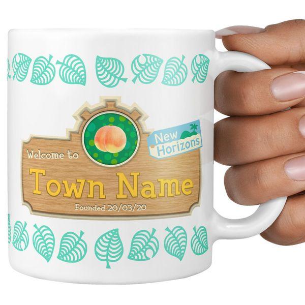 MaxPrintDesigns Animal Crossing Personalized Town Mug