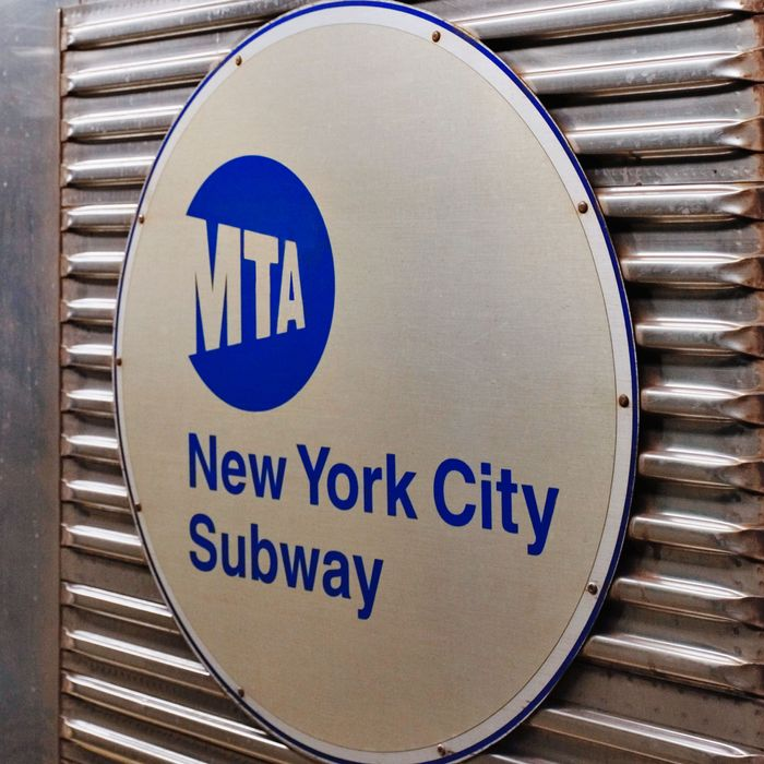 Close-up of New York City Subway Car