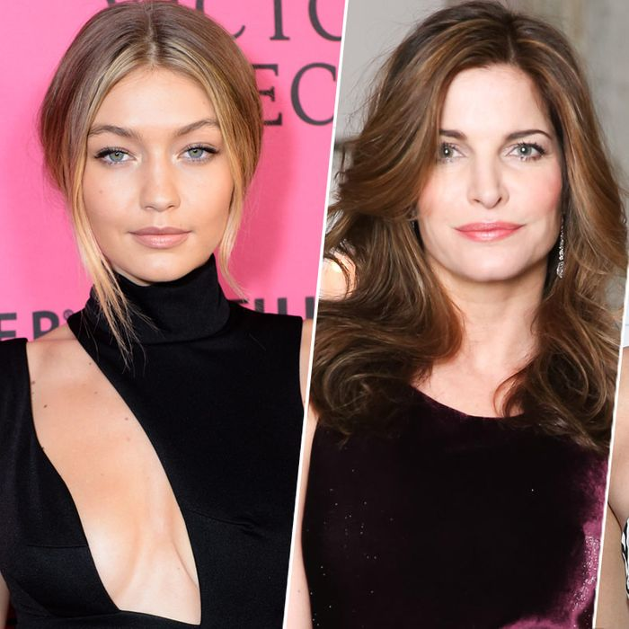 Gigi Hadid; Stephanie Seymour, Kendall Jenner.