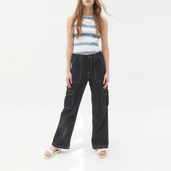 BDG High-Waisted Contrast Stitch Skate Jean