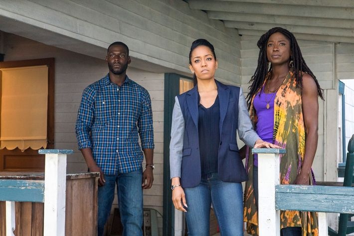 Kofi Siriboe as Ralph Angel, Dawn-Lyen Gardner as Charley, Rutina Wesley as Nova.