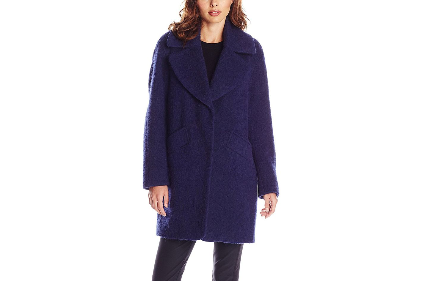Lark and Ro Brushed Wool-Blend Cocoon Coat