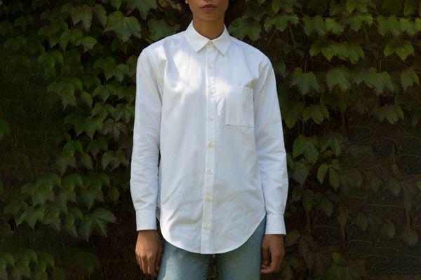 The Oxford in Crisp White Cotton