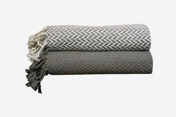 Wallasey Cotton Throw Blanket Set