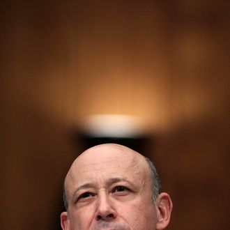Lloyd Blankfein, chairman and CEO of The Goldman Sachs Group, participates in a Senate Homeland Security and Governmental Affairs Investigations Subcommittee hearing