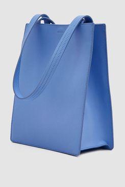Baggu Medium Leather Retail Tote in Cornflower