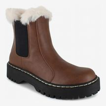 Portland Boot Company Fur Trim Chelsea Boot