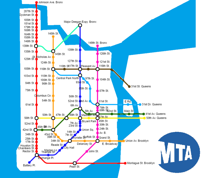Here Are Subway Maps Where Every Stop Is A Subway Franchise