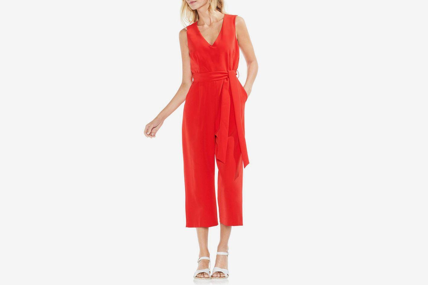 e91996902297 VINCE CAMUTO Sleeveless Tie Waist Jumpsuit