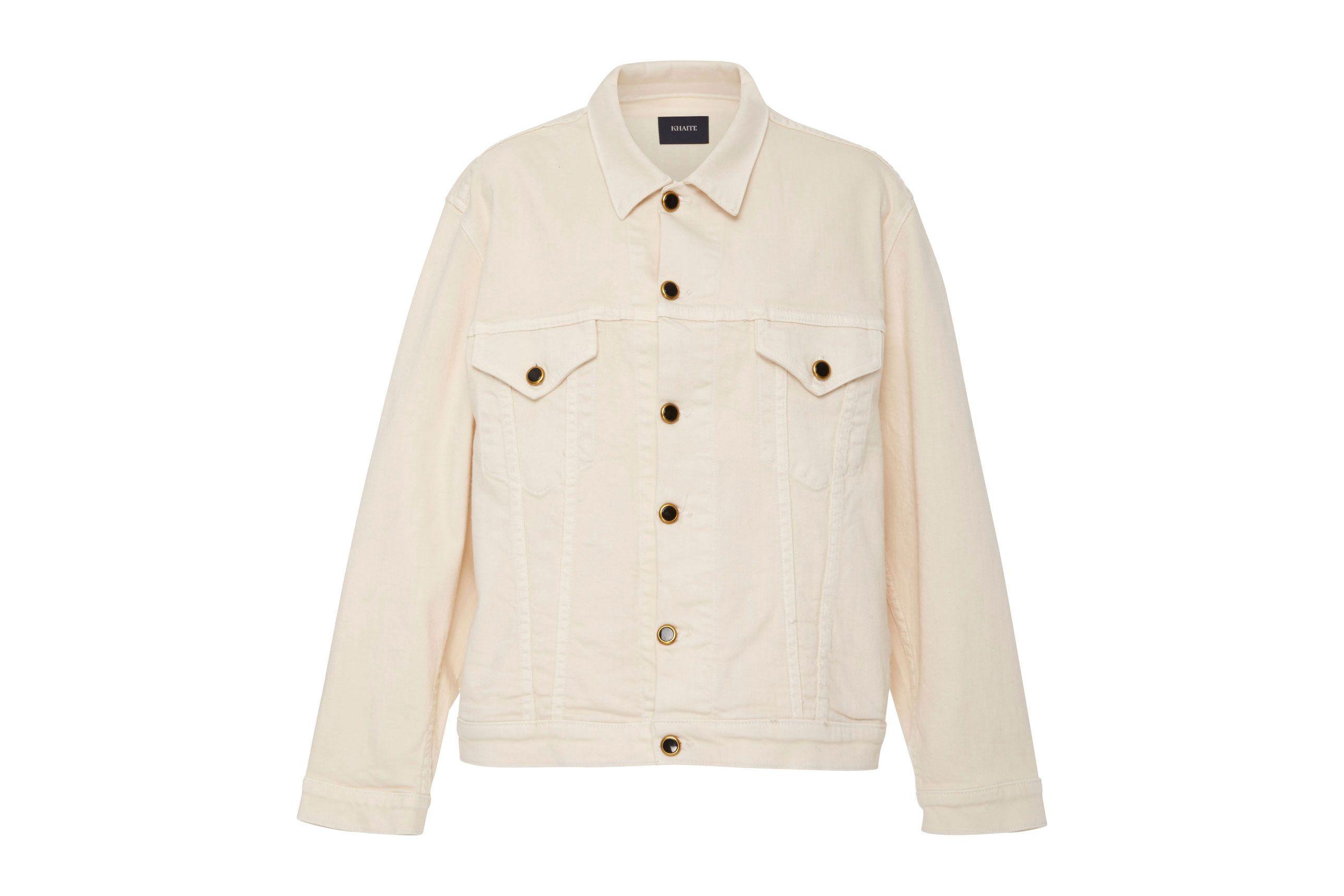 Khaite Cate Ivory Denim Jacket