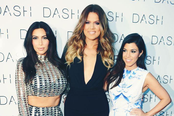 Kim, Khloe, and Kourtney Kardashian.