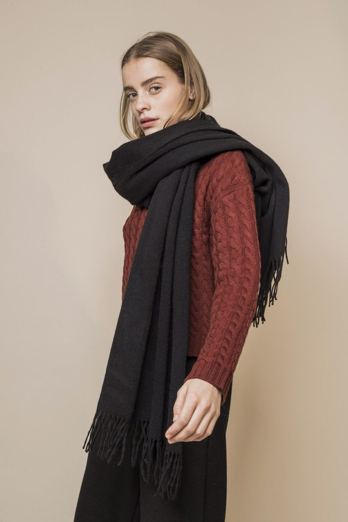Opusion Oversized Wool Scarf