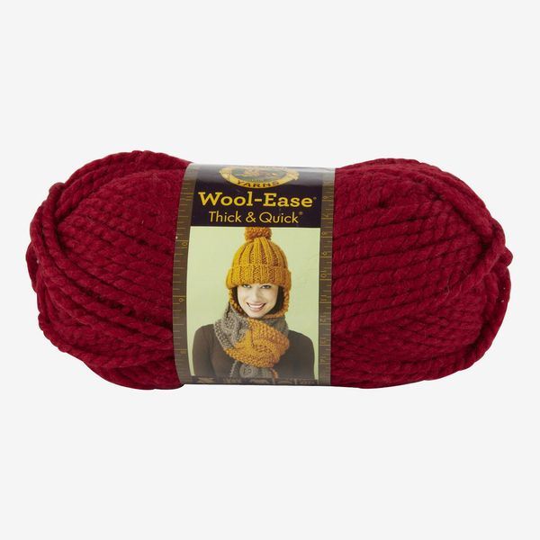 Lion Brand Wool-Ease Thick & Quick Yarn, Solids