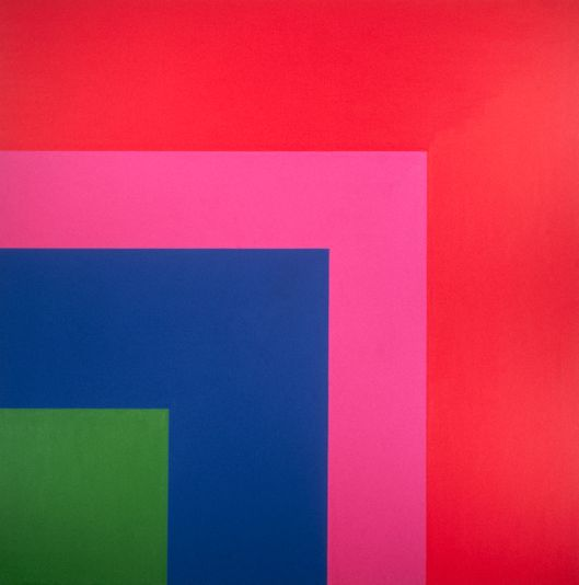 Square: Red, Pink, Blue, Green by Ellsworth Kelly