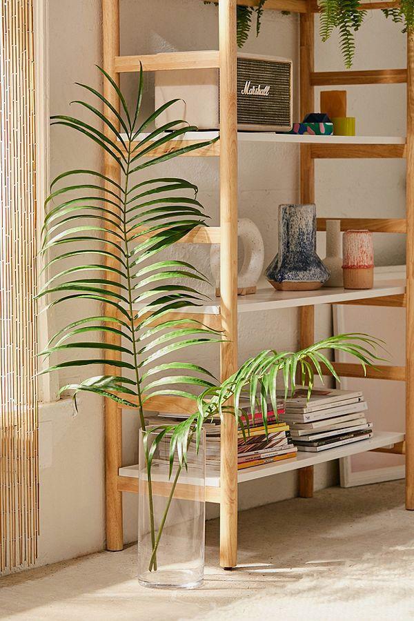 Faux Palm Leaf Pair