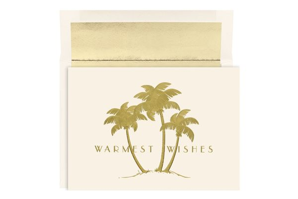 Great Papers! Holiday Greeting Card, Gold Palms
