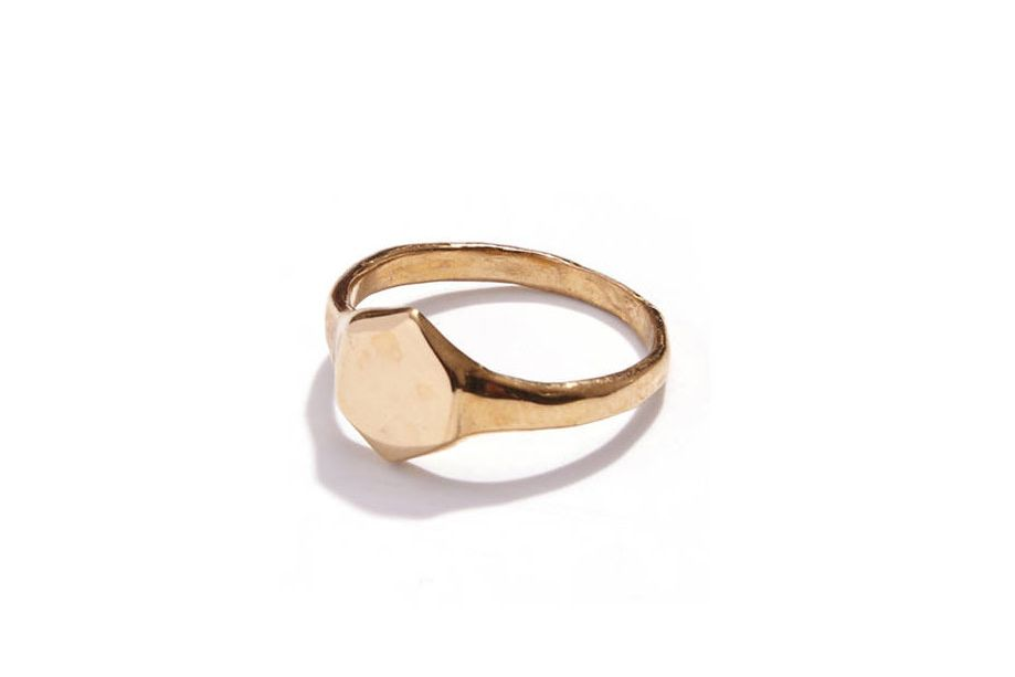 Odette Brass Signet Ring