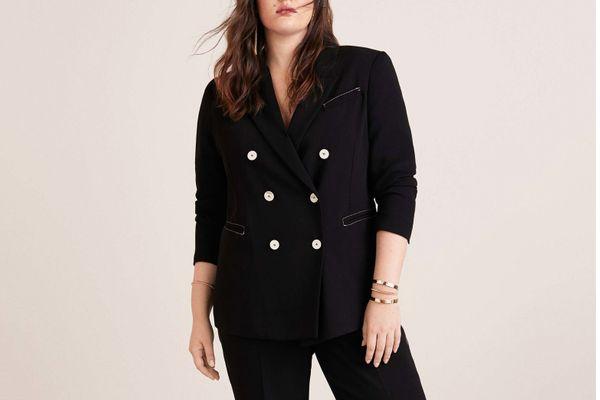 Violeta Contrast seam blazer