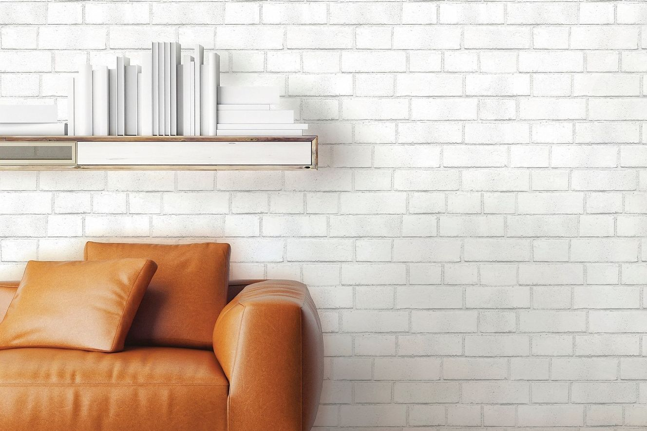 Devine Color Textured Brick Peel & Stick Wallpaper