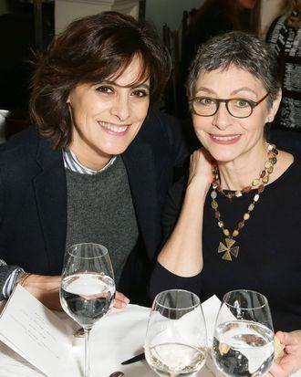 Joan Juliet Buck (right).