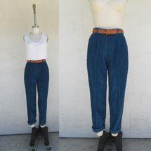 Cucarachaz '90s New Old Stock L.L.Bean Dark Teal Wale Corduroy Trousers