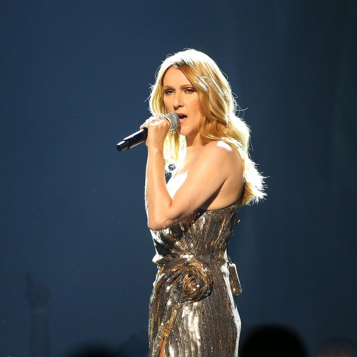 Celine Dion at the 2016 Billboard Awards, performing Queen's