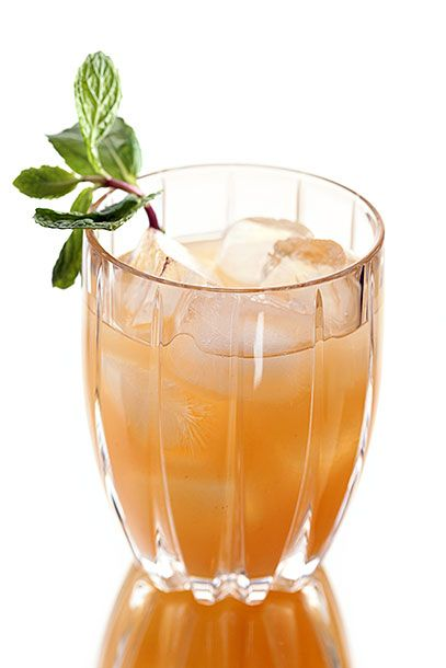 "<b>Hound Dog</b>  <i><a href=""http://alchemymemphis.com/"">Alchemy</a>, Memphis</i>  All of the fresh ingredients brighten up this bourbon drink. As with the swizzle from Florida, steep slices of fresh ginger in simple syrup while it's warming to make the required ginger syrup: In a shaker, combine 1 1/2 ounce bourbon (Alchemy uses its own bottling of <a href=""http://www.buffalotracedistillery.com/brands/wl-weller"">W.L. Weller</a>), 1 ounce peach puree, 3/4 ounces ginger syrup, 1/4 ounce lemon juice, and 3 sprigs of mint. Shake with ice and strain into a rocks glass filled with fresh ice. Garnish with a fresh sprig of mint."