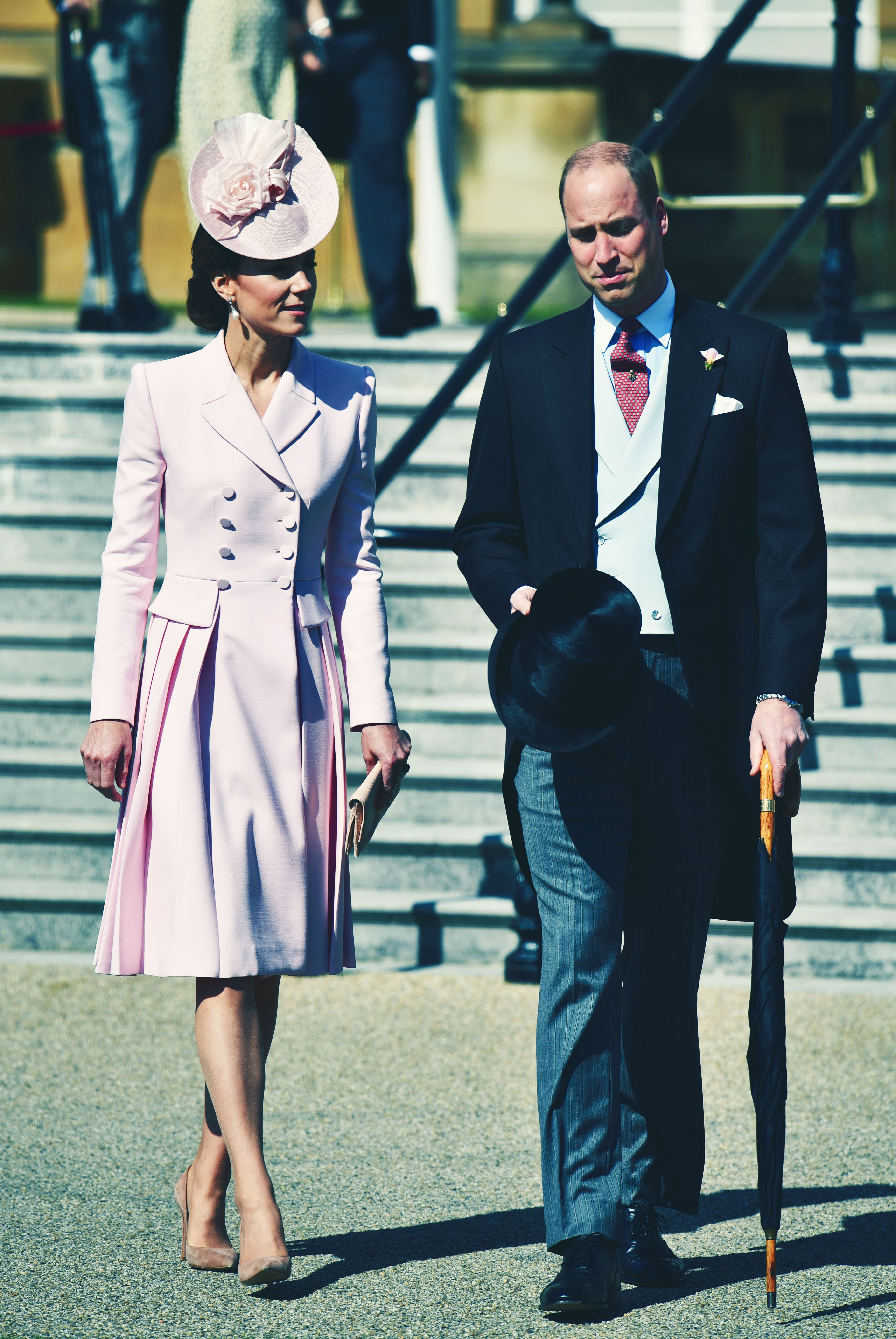 Kate Middleton Is Extremely Pink at the Queen's Garden Party