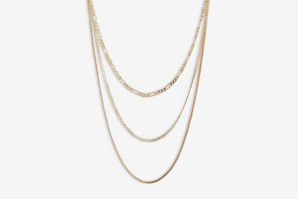 Argento Vivo Triple Layer Chain Necklace