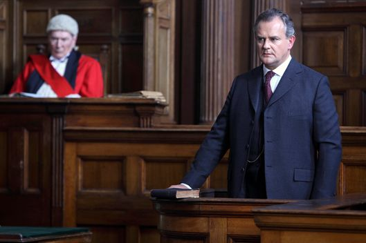 Downton Abbey Season 2 on MASTERPIECE Classic - Part 7 - Sunday, February 19, 2012 at 9pm ET on PBS - Shown: Hugh Bonneville as Lord Grantham
