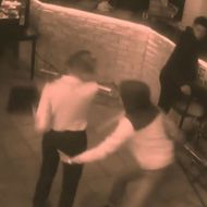 Watch a Grope-y Restaurant Customer Get Exactly What's Coming to Him