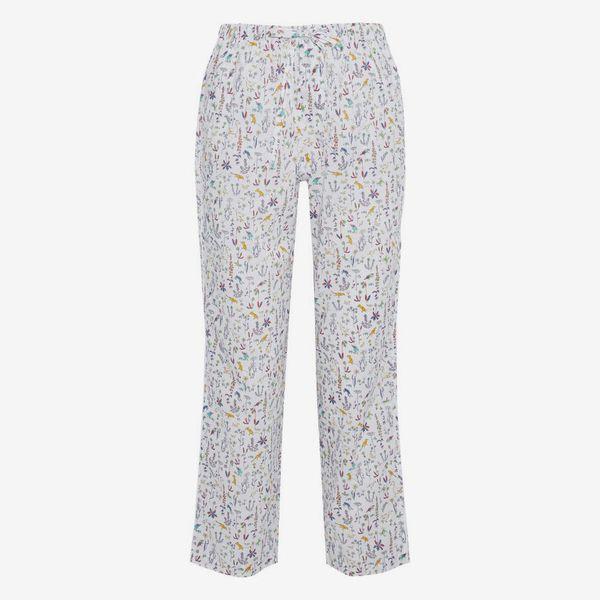 Marina Printed Cotton-Poplin Pajama Pants - strategist best marina white multi color printed draw string pajama pants