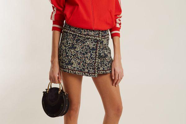 Isabel Marant Etoile Hanon Quilted Cotton-Blend Mini Skirt