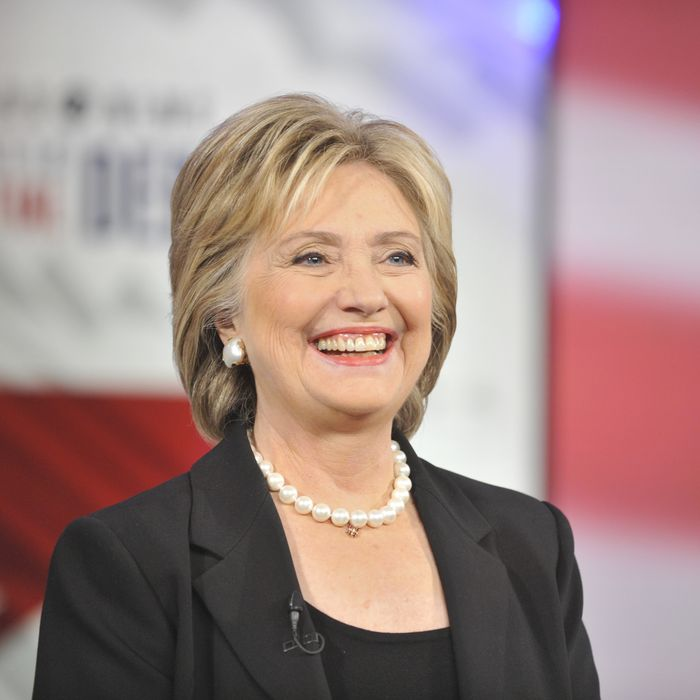 Hillary Clinton will split the bill (maybe — she'll consider it). Photo: CBS Photo Archive / Contributor