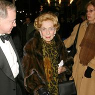 Brooke Astor arrives at the play opening of 'I Am My Own Wife' December 3, 2003 in New York City.