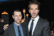 "NEW YORK, NY - MARCH 18:  Creator and executive producer D.B. Weiss and executive producer David Benioff  attend ""Game Of Thrones"" Season 4 New York Premiere After Party at Avery Fisher Hall, Lincoln Center on March 18, 2014 in New York City.  (Photo by Jamie McCarthy/Getty Images)"