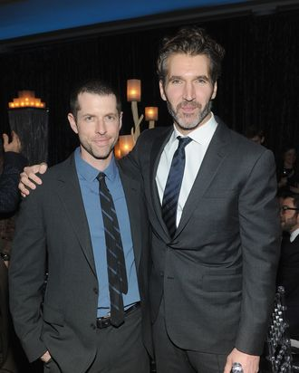 NEW YORK, NY - MARCH 18: Creator and executive producer D.B. Weiss and executive producer David Benioff attend