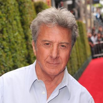 HOLLYWOOD, CA - MAY 22: Actor Dustin Hoffman arrives at DreamWorks Animation's