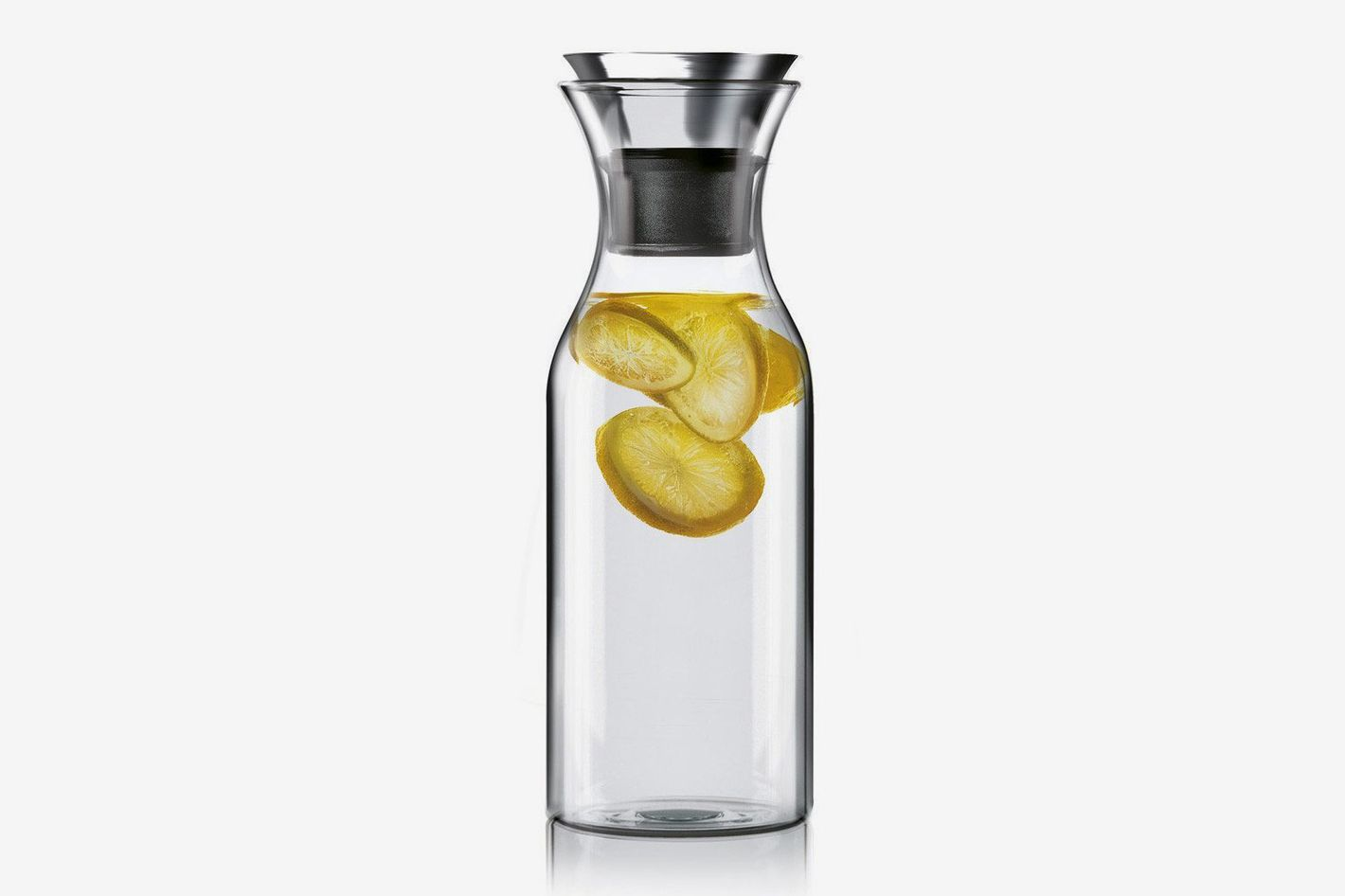 Hiware 35 Oz. Glass Carafe With Stainless Steel Silicone Flip-top Lid