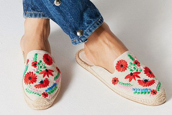 Soludos Ibiza Embroidered Floral Mule