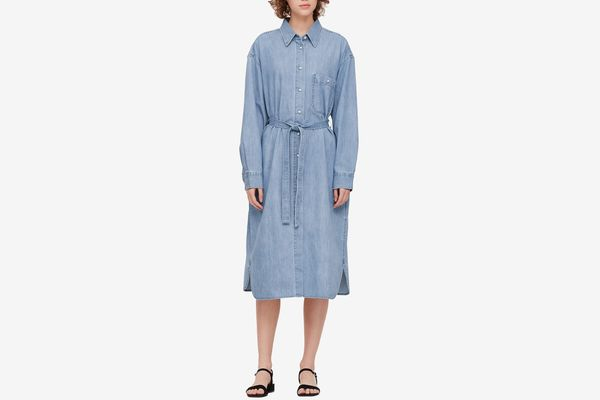 Uniqlo U Women's Denim Long-Sleeve Shirt Dress