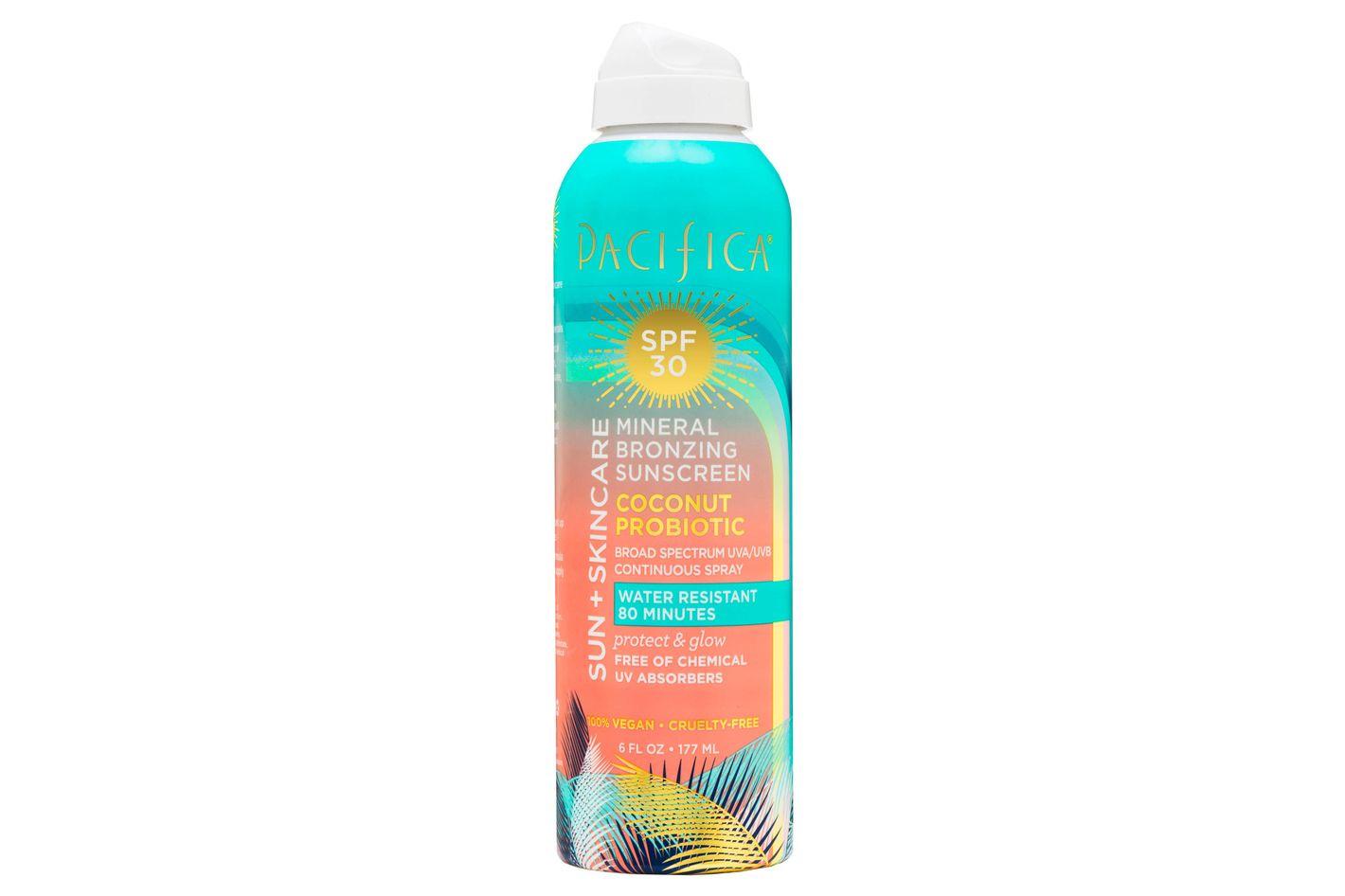 Pacifica Coconut Probiotic Mineral Bronzing Sunscreen Spray SPF 30