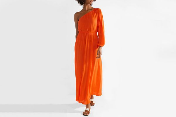Mara Hoffman Vera one-shoulder crinkled-voile maxi dress