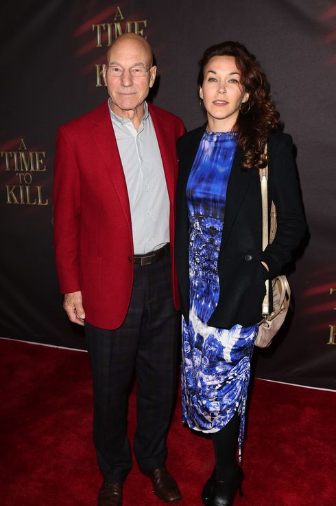 Patrick Stewart & wife Sunny Ozell  attend the Broadway Opening Night Performance of 'A Time To Kill' at the Golden Theatre in New York City on October 20, 2013.